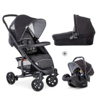 Set Carucior Malibu 4 Trio Set Black Silver