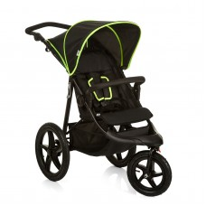 Carucior Runner Black Neon Yellow