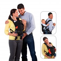 Marsupiu 3 Way Carrier - Black