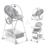 Sezlong si Scaun Masa Sit'n Relax 3in1 Stretch Grey