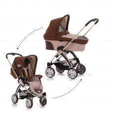 Set Carucior 2 in 1 i'Coo Pii Coco/ Cocoon Set Cacao