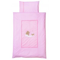 Lenjerie Pat Sleeping Bear Rose 100/135 cm