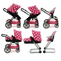 Set Carucior Papausi Icoo Grow With Me Dotty Pink